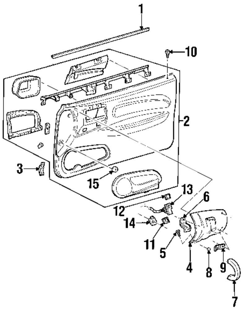 Genuine ford wire harness bracket for f8cz14536ba