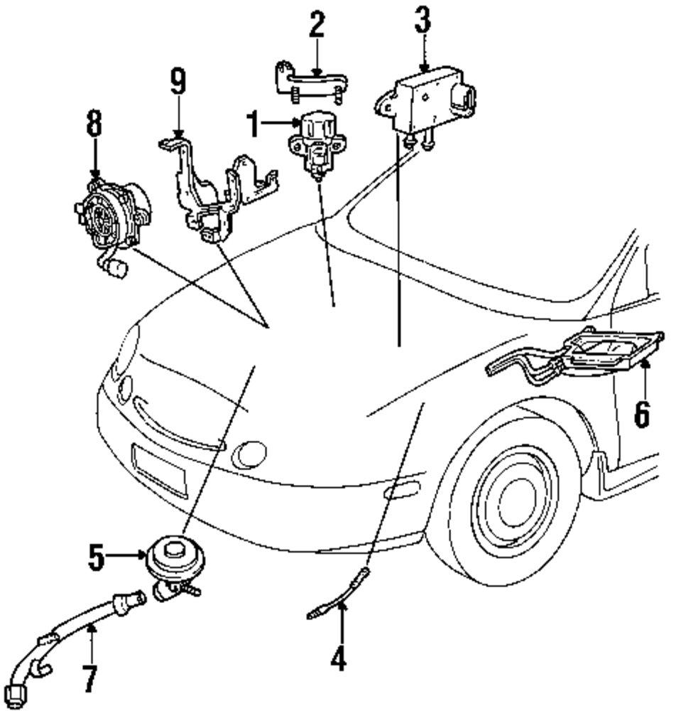 Genuine ford egr vacuum cntrl bracket for f6dz9h472ba