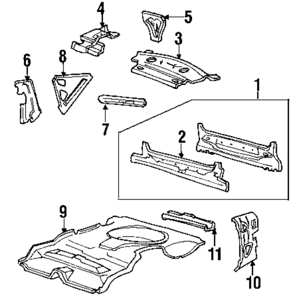 Genuine lincoln rear body panel lin f8oz5440320aa