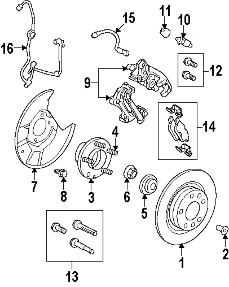 Genuine lincoln rotor screw lin w505741s439