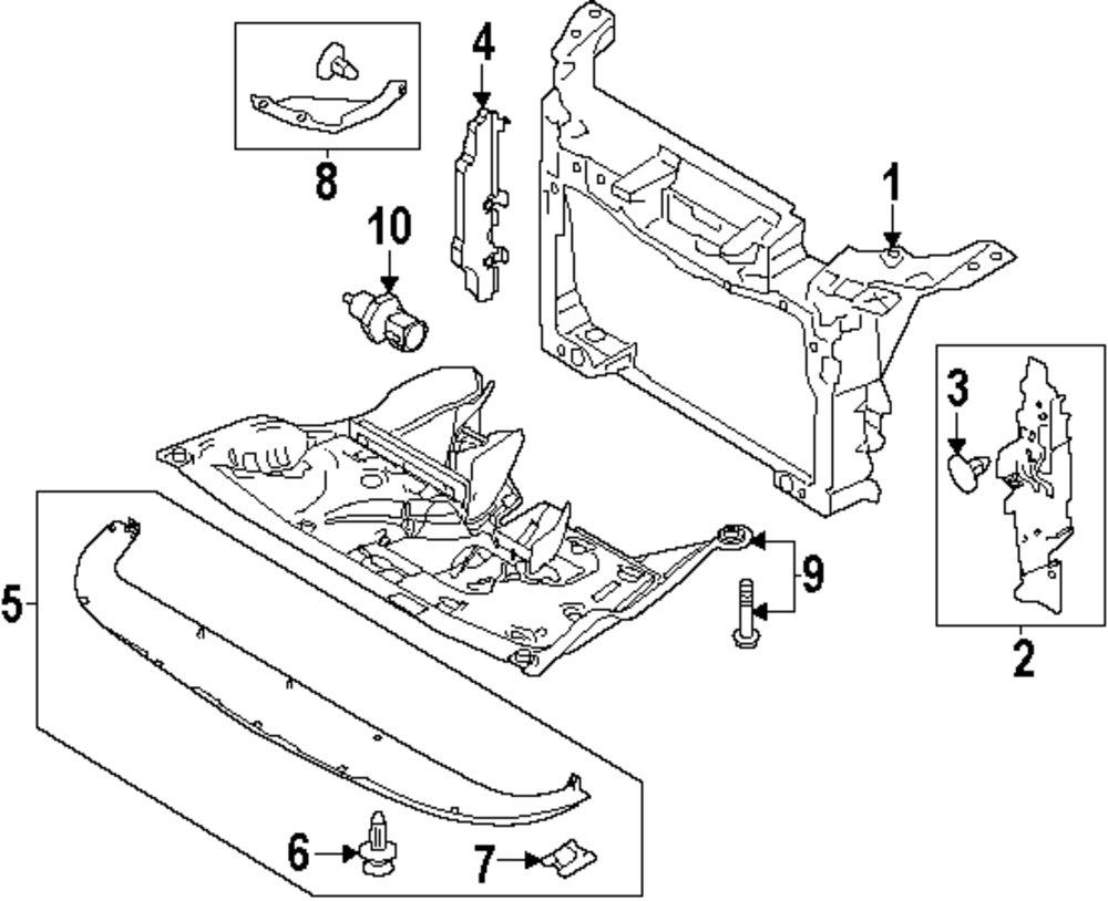 Genuine ford radiator support for da8z16138a