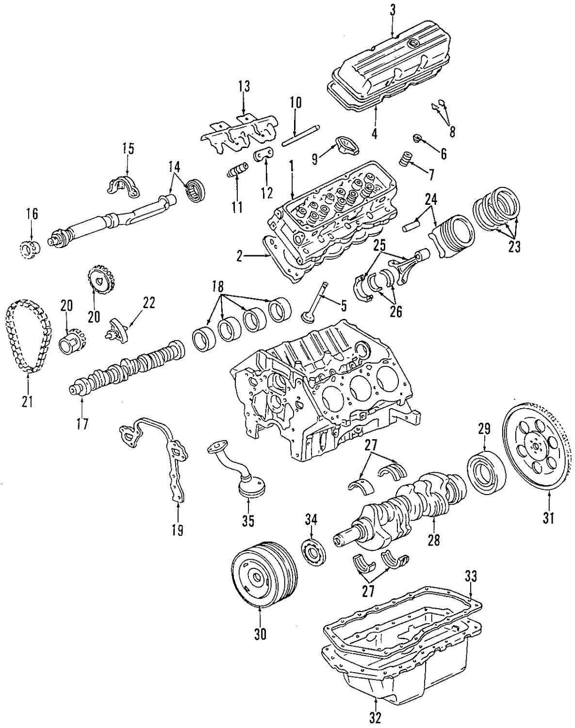 Oldsmobile Intrigue Cylinder Head And Valves Parts