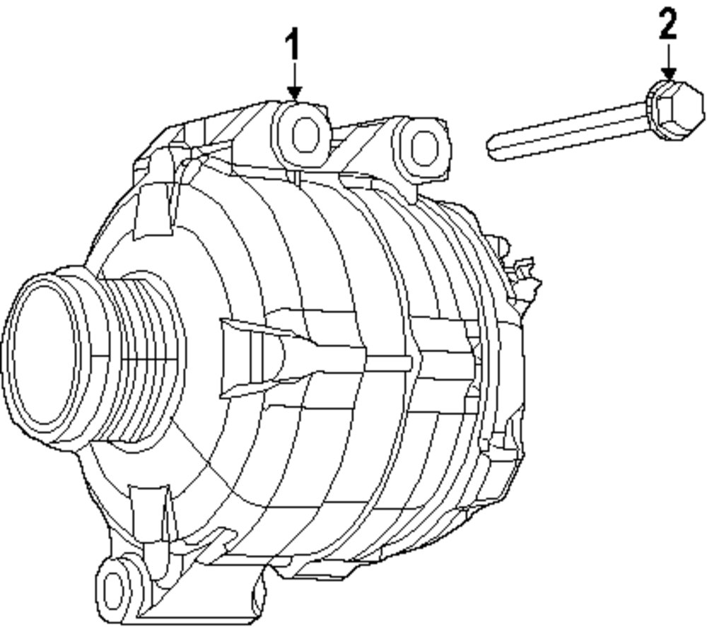 Genuine chrysler water pump assy bolt chr 6104206aa