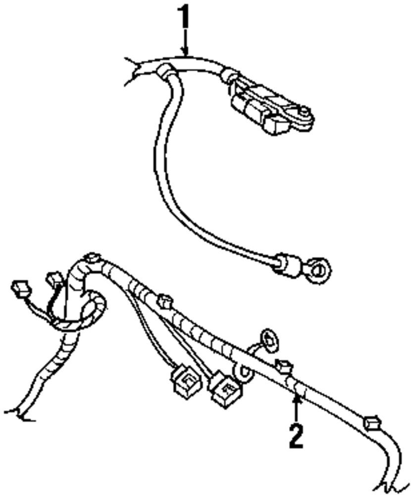 Genuine chrysler wire harness chr 4865429ab