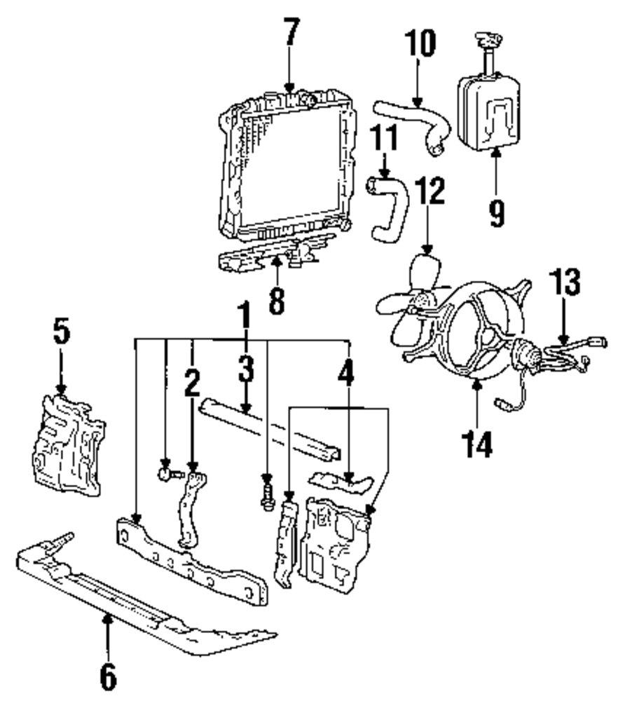 Genuine dodge air deflector dod mb325883