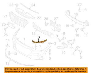 HYUNDAI OEM 2017 Elantra Front BumperUpper Reinforcement