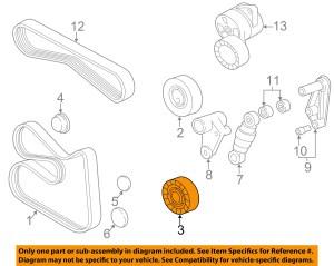 BMW OEM 9600 Z3Serpentine Fan Belt Tensioner 11281748131