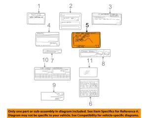 TOYOTA OEM 1999 Solara LabelsVacuum Hose Diagram