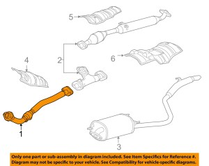 TOYOTA OEM 0406 Sienna 33LV6 Exhaust SystemFront Pipe 174100A400