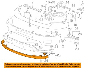 Chevrolet GM OEM 1114 Silverado 2500 HD Front BumperLower Extension 20845670