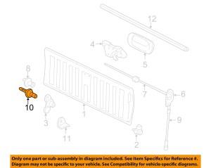 SILVERADO SIERRA TAIL GATE CABLE BOLT 19992016 NEW OEM
