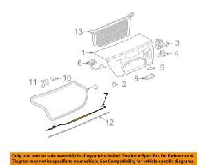 Saturn GM OEM 0307 Ion Trunk LidTorsion Bar Torque Rod Right 22707540 | eBay