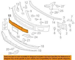 FORD OEM 1516 F150 Front BumperTrim Panel FL3Z17E810BA