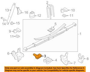 FORD OEM 1116 F250 Super Duty Rear SuspensionSpacer Left 7C3Z5598L | eBay