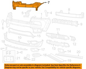 Jeep CHRYSLER OEM Front BumperImpact Reinforcement Bar