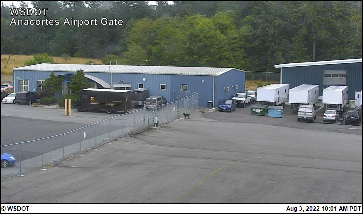 Anacortes Airport web cam image enlargement - east view