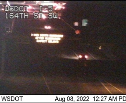 164th St SW, I-5 traffic camera