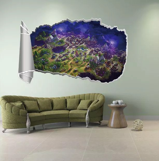 Pvc Fortnite Wall Sticker Kids Bedroom Living Room Decor Wall Stickers Cartoon Fortnite Wall Decal Price From Souq In Saudi Arabia Yaoota