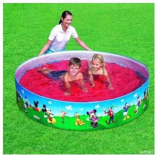 حمام سباحة اطفال ميكى ماوس غير قابل للنفخ قطر 183 متر 91009 ازرق