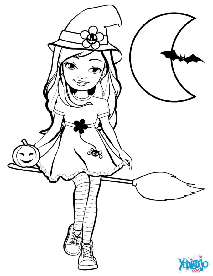 Dibujos Infantiles Halloween Para Colorear E Imprimir | Frameimage.org