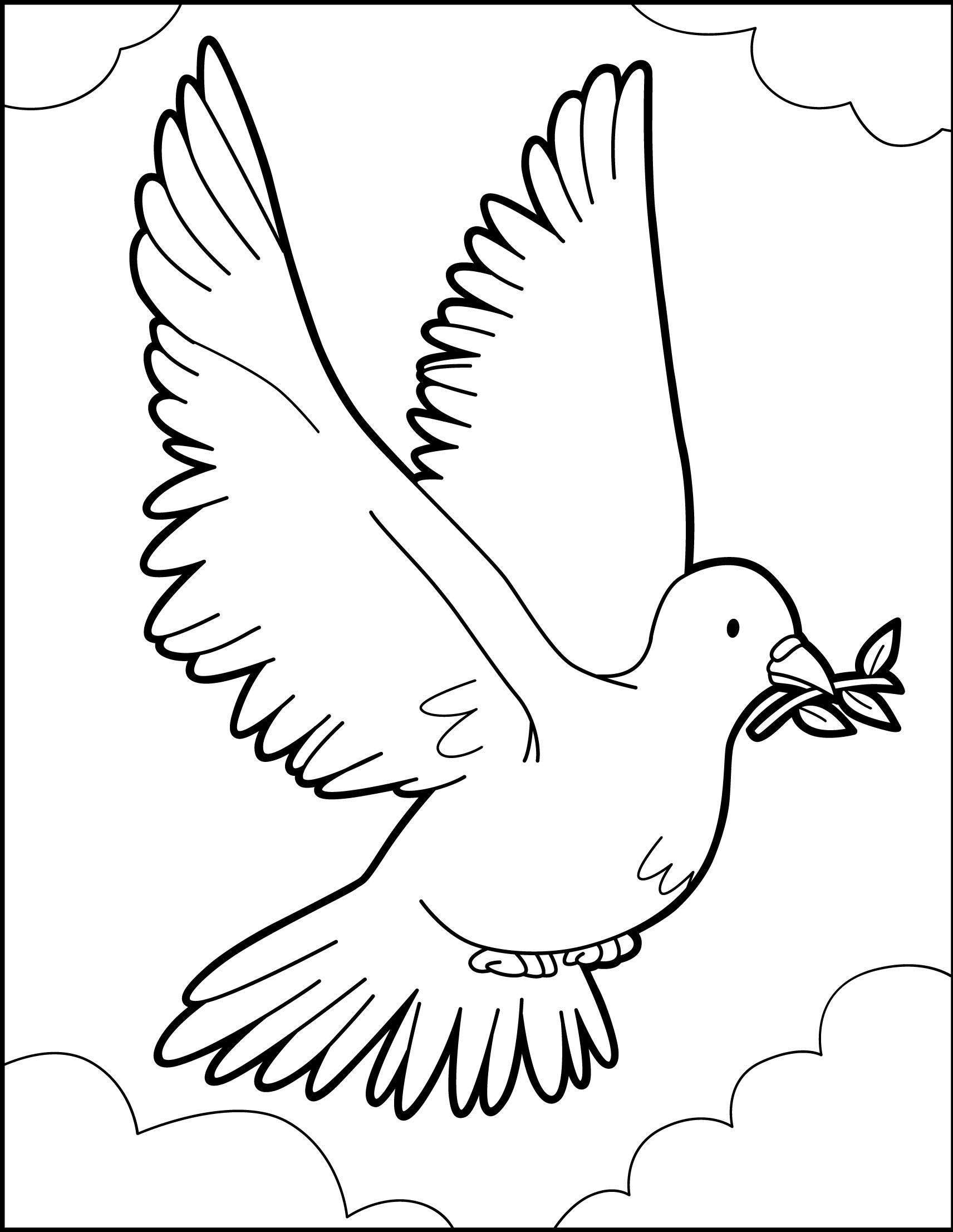 Dibujo Paloma De La Paz Para Imprimir Imagui