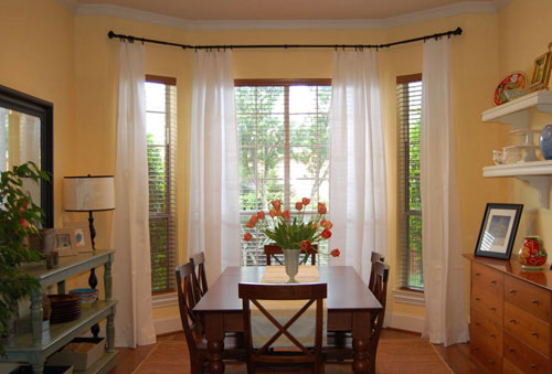 Bay Window Curtains Before And After How To
