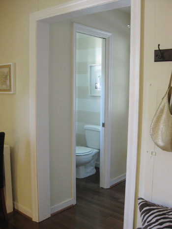 striped-half-bathroom-wall-paint-project