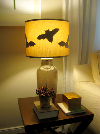 Halloween fun making paper bats for our lamp shades young house love