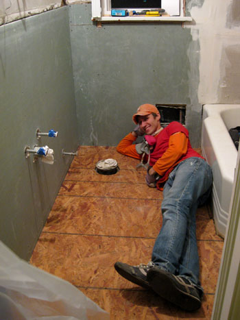 Exceptional Here I Am Enjoying Our New, Super Solid Subfloor. And Yes I Realize My Head  Is Right Next To The U201ctoilet Holeu201d (again, Thatu0027s A Technical Term).
