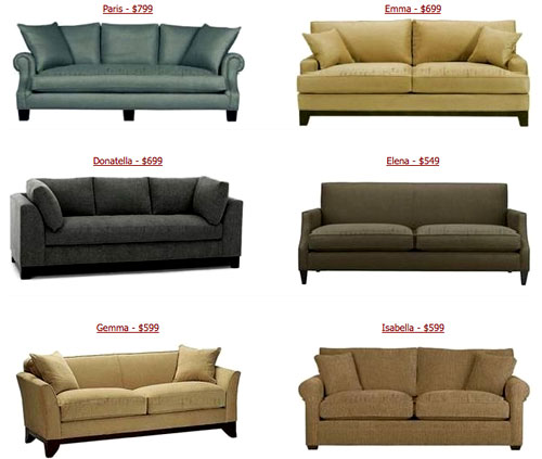 Weu0027re Talking About Sofas That Are Dead Ringers For Spendy Crate U0026 Barrel,  Pottery Barn, Room U0026 Board And Anthropologie Versions With Prices That  Start ...