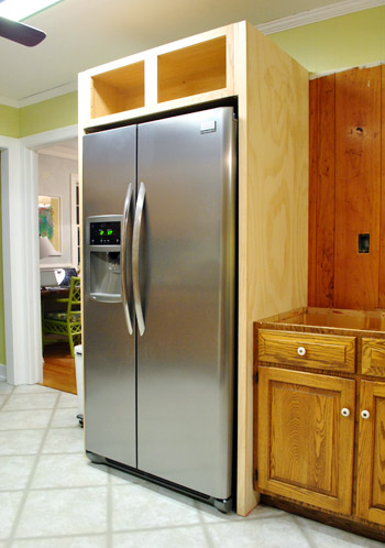 How To Build In Your Fridge With A Cabinet On Top Young