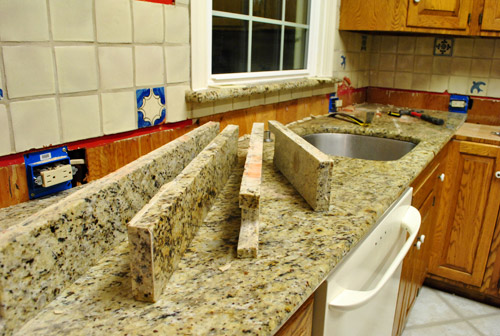 kitchen reno removing our sink our old granite counters young house love. Black Bedroom Furniture Sets. Home Design Ideas