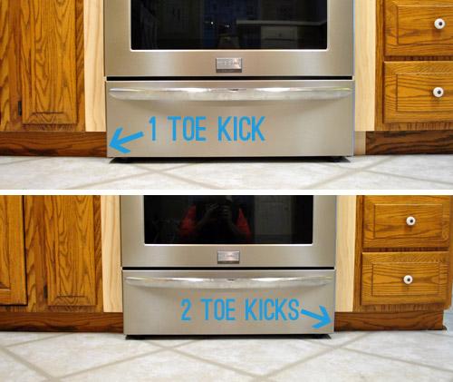 Kitchen Island No Toe Kick: Adding Toe Kicks & A Window Sill