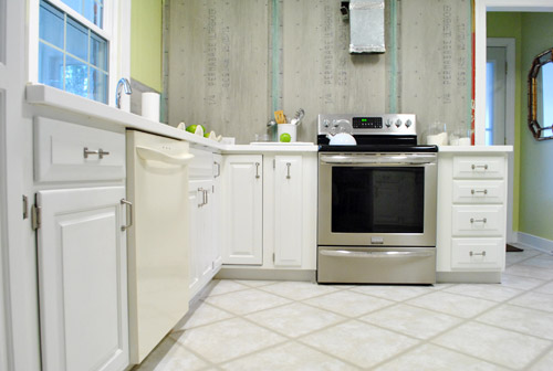 paint kitchen cabinets old appliances