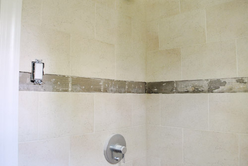 Replacing Old Shower Border Tiles | Young House Love