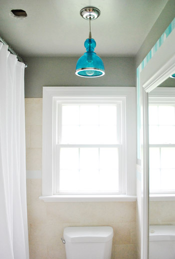 How To Move A Ceiling Light To Center It | Young House Love