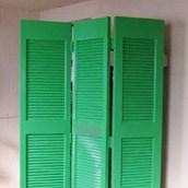 Screen With An Old Door