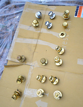 How To Upgrade Your Old Brass Door S With Spray Paint