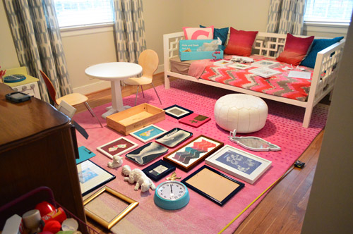 How To Hang A Frame Collage With A Sheet Of Paper | Young House Love