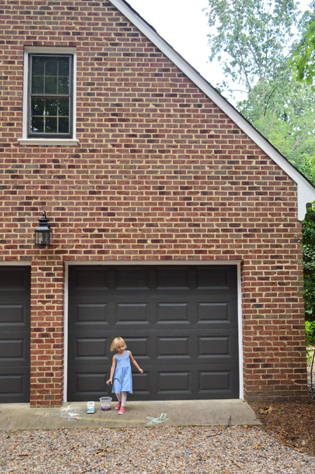 Painting Our Garage Doors A Richer, Deeper Color | Young ... on Garage Door Colors Pictures  id=75739