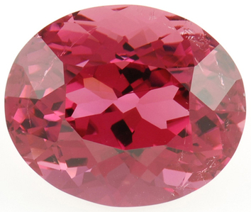 Stunning Color In Fiery Rose Colored Tourmaline Gemstone