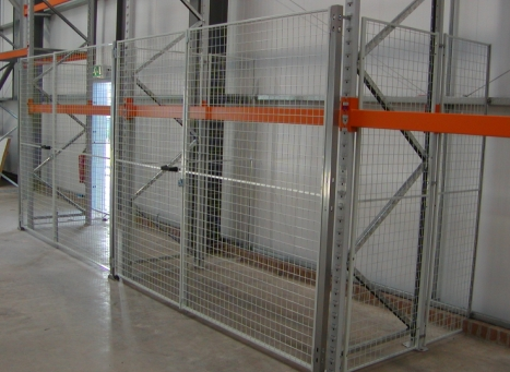 Read Security Cage With Large Doors For Pallet Racking