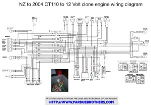 Wiring diagram for a Lifan conversion  Honda Trail  CT90