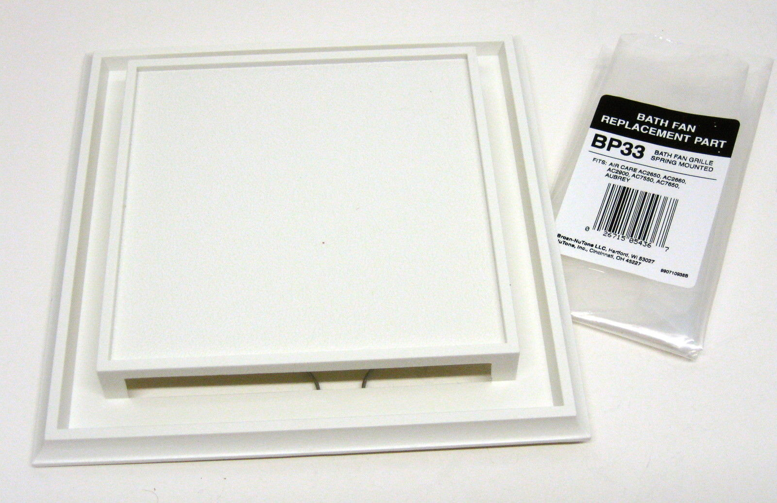 Bp33 Broan Aubrey Air Care Bath Bathroom Ceiling Fan Grille Grill Cover White 26715054367 Ebay