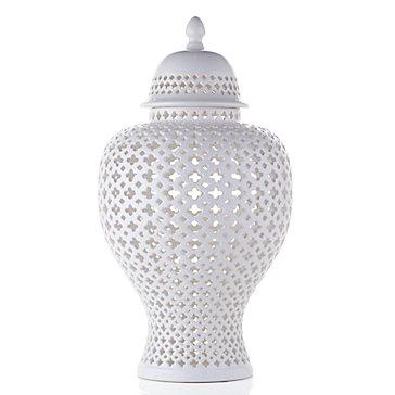 Ceramic Filigree Jar Sophie Cascada Entryway Inspiration
