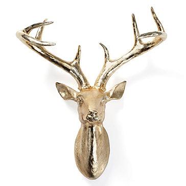 Gold Deer Head Antlers