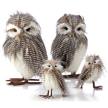 Striped Owl - Set of 2