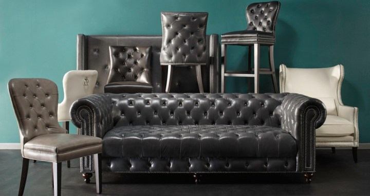 Leather Furniture   Leather Chairs  Sofas   Beds   Z Gallerie Leather Furniture