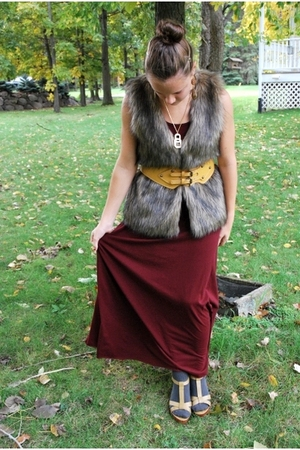 xhiliration vest - Mossimo dress - belt - payless shoes - socks