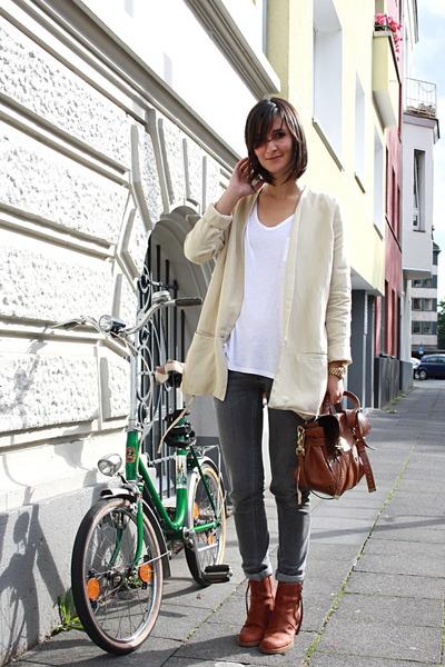 acne boots - skinny jeans acne jeans - oversize blazer acne blazer